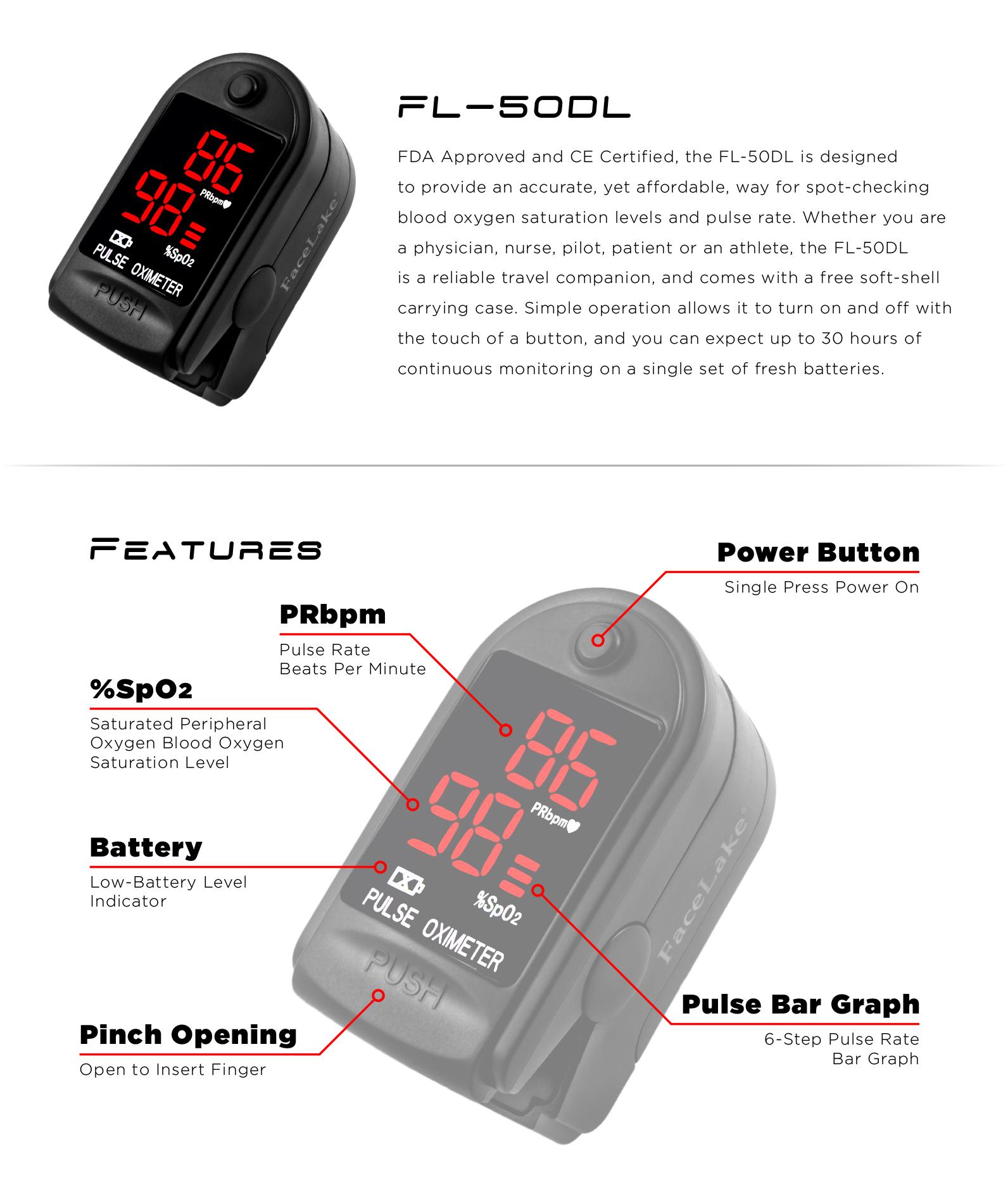 cms50dl pulse oximeter blood oxygen monitor fl400