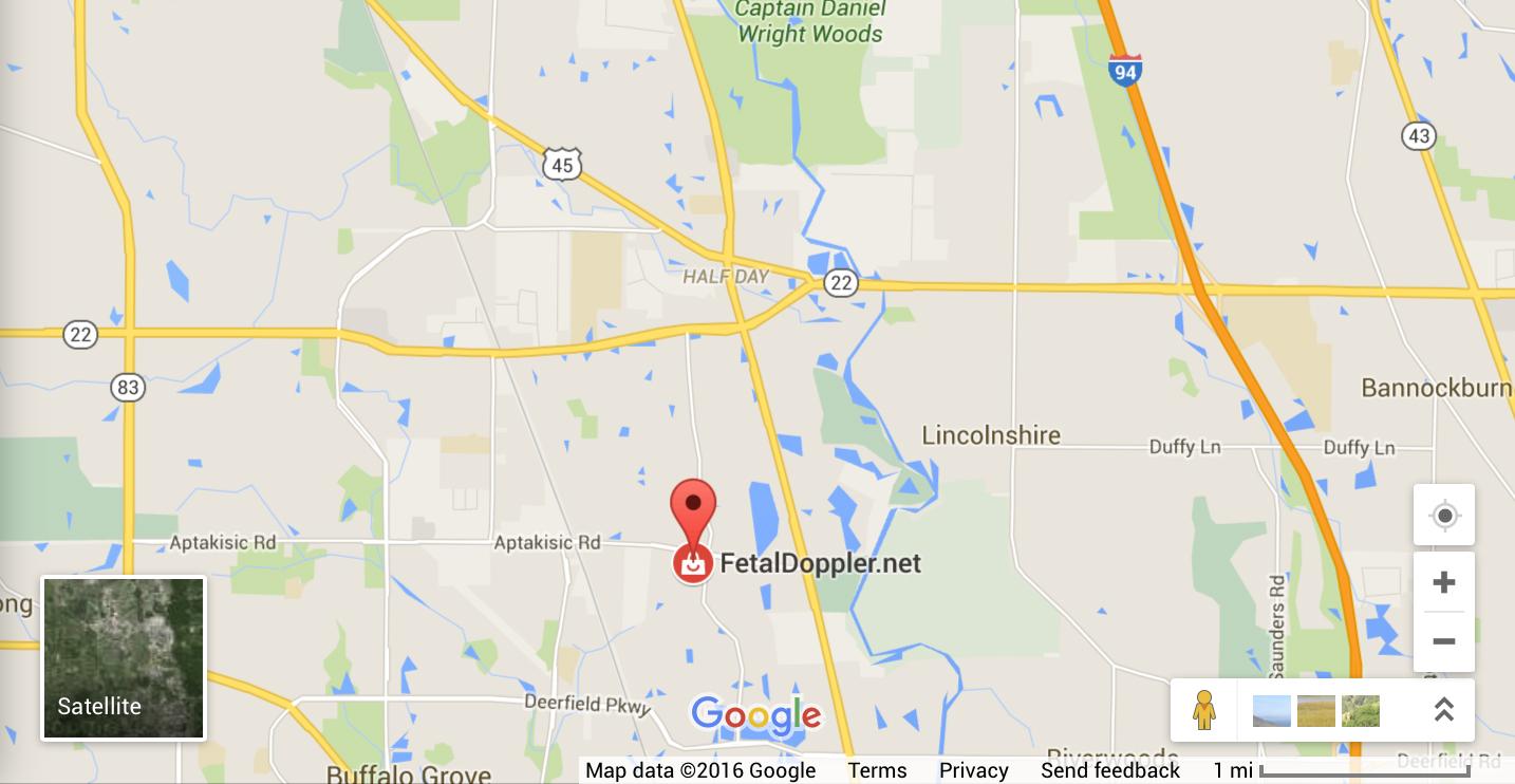 FetalDoppler.net Google Maps Location